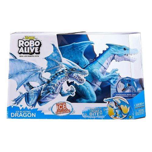 Zuru Robo Alive Ice Blasting Battery-Powered Roaring Blue Dragon
